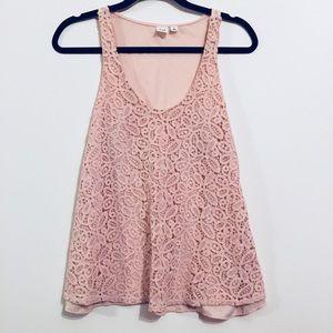 5/20$ NWOT Gap Floral Lace Print Blush Tank